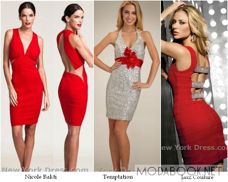 Красные выпускные платья 2014