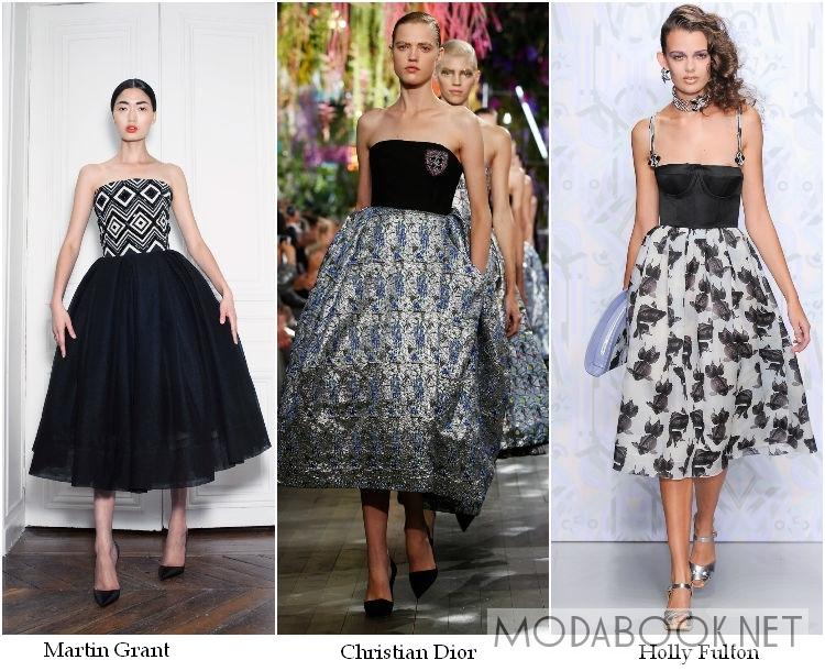 Пышные коктейльные платья 2014