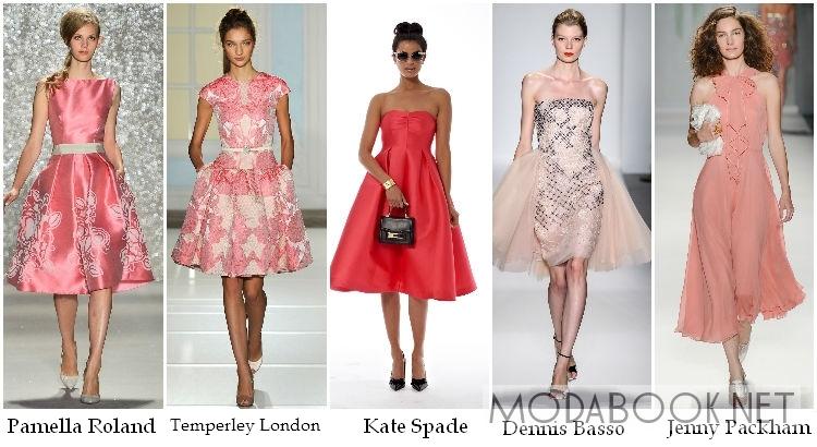 Модные коктейльные платья 2014