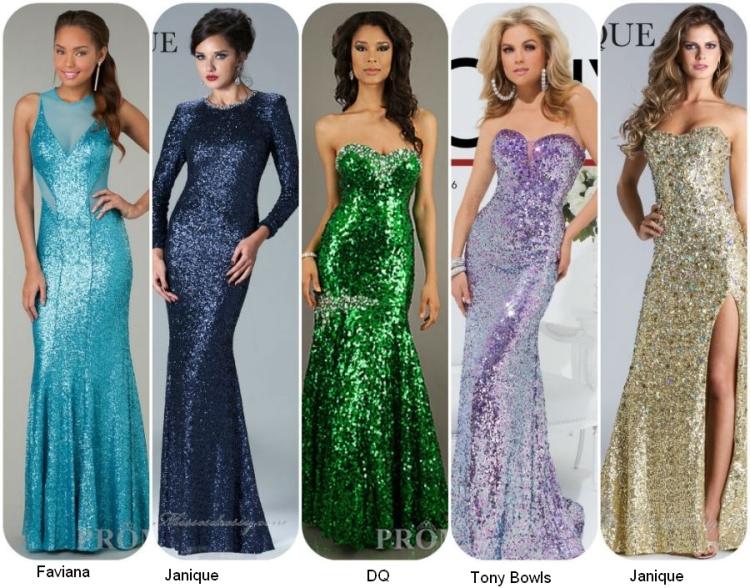 Длинные ыпускные платья 2014 с пайетками