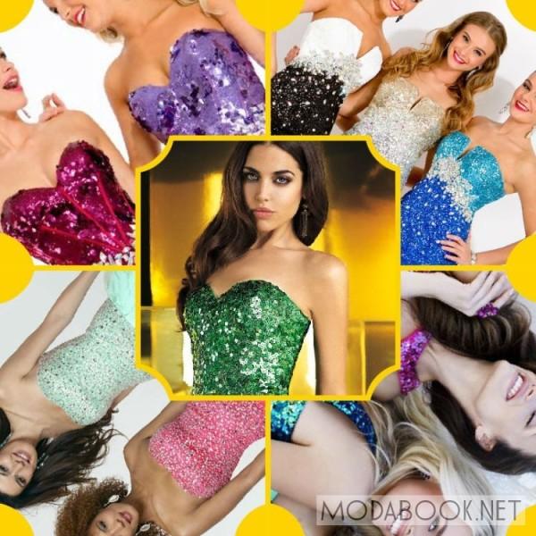 Модные выпускные короткие платья 2014