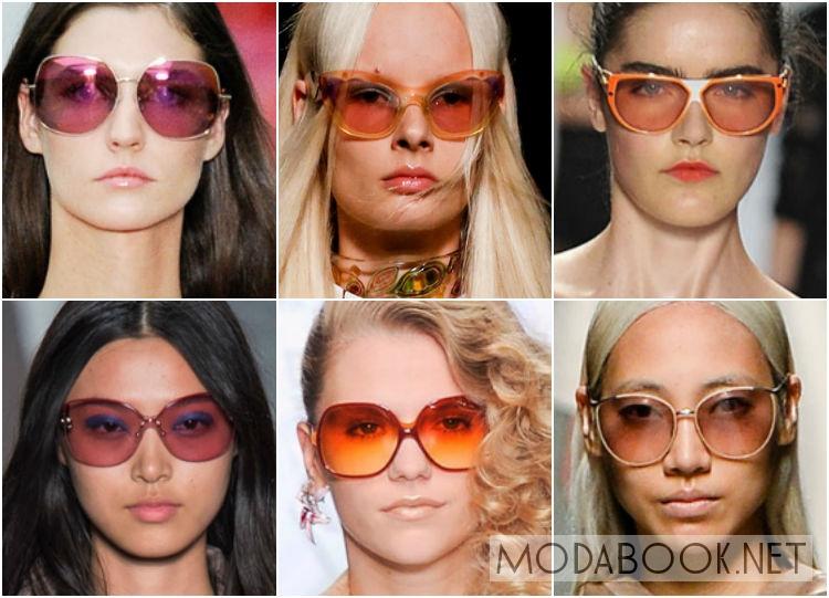 Очки от солнца 2014 с цветными полупрозрачными линзами