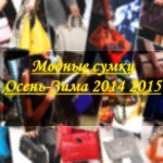 Модные сумки: Осень Зима 2014 2015