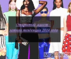 Тренды лета 2014 — одежда с открытым животом