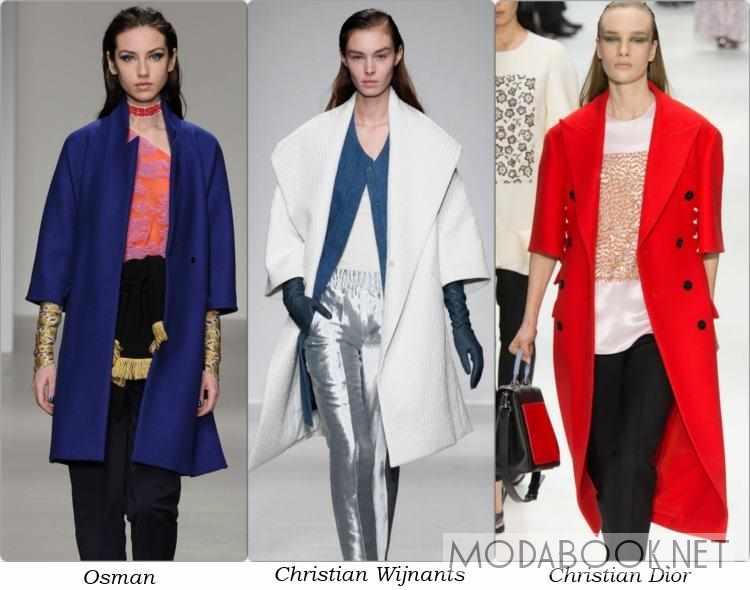 Фасоны женского пальто с укороченным рукавом