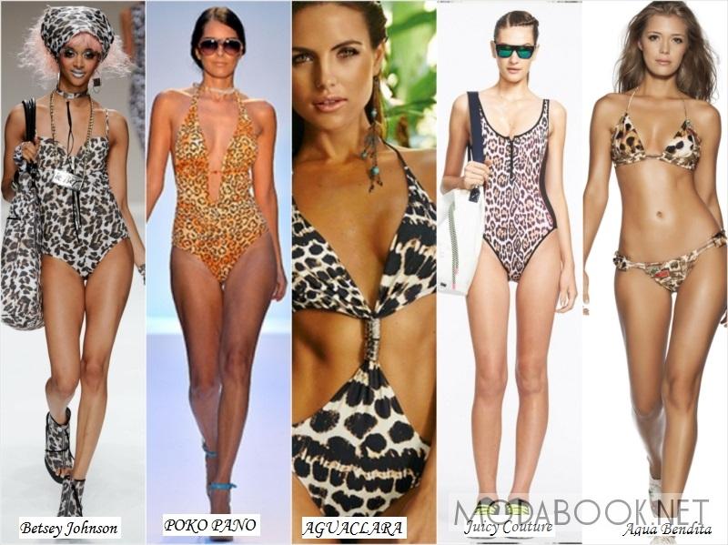 Леопардовая расцветка купальников для женщин 2014 года