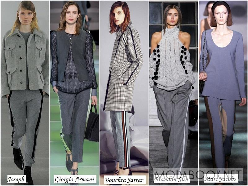 Женские брюки с лампасами - осень 2018