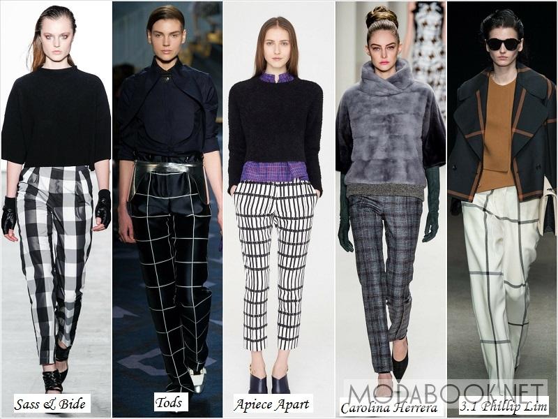 Женские брюки в клетку из осенних коллекций 2018 года