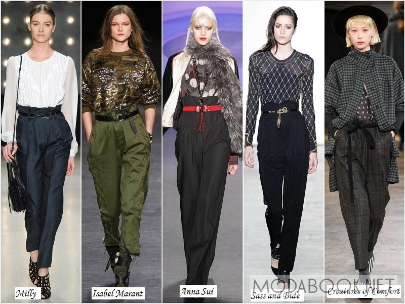 Женские брюки с завышенной талией: осень зима 2018