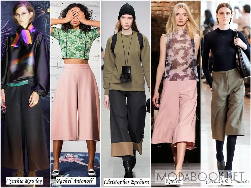 Женские брюки-юбка из осенне-зимних коллекций 2018 года