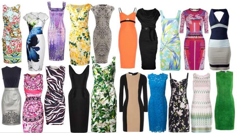 Фото приталенных женских платьев