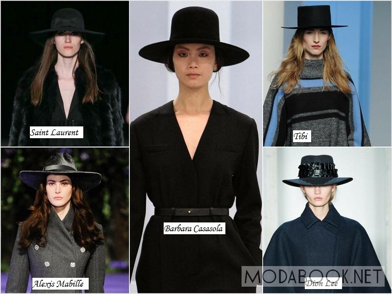 Ширококонечные шляпы из осенне-зимних колекций 2014 2015