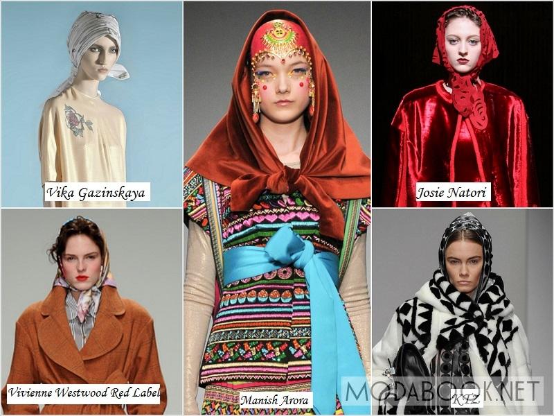 Женские платки и косынки на осень 2014