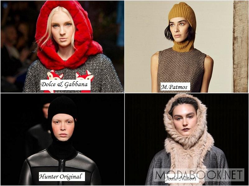 Женские капоры на зиму 2015 года