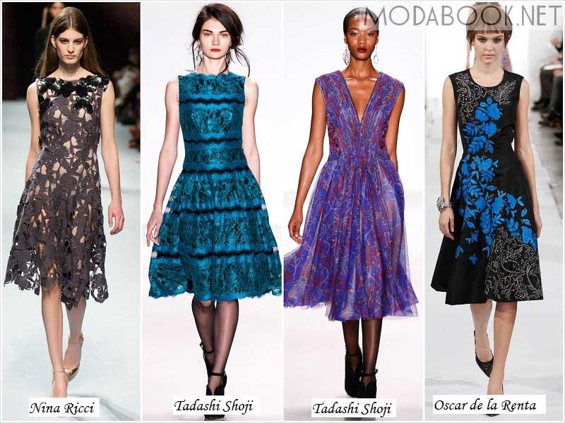 Расклешенные платья осень зима 2014 2015