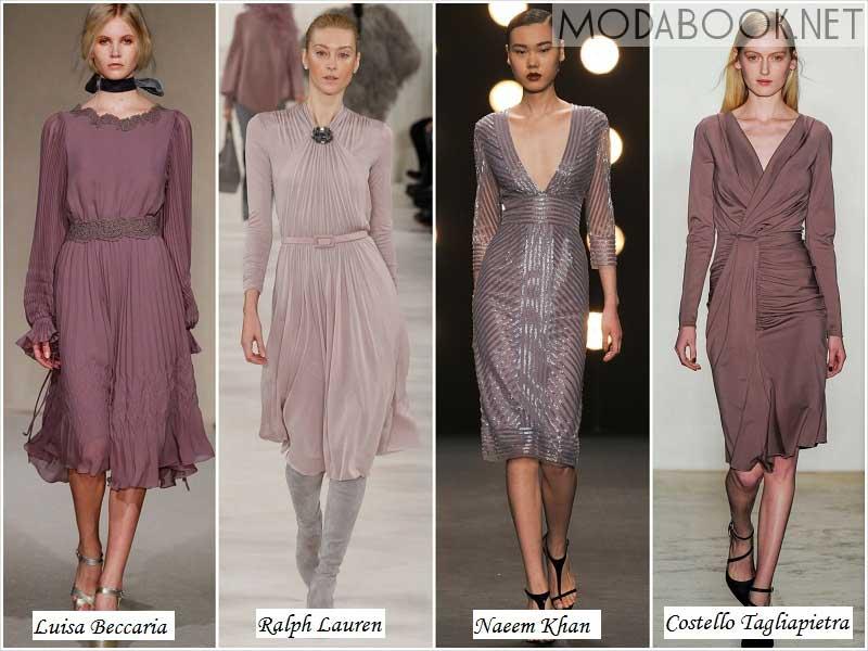 Сиреневые платья осени 2014 года