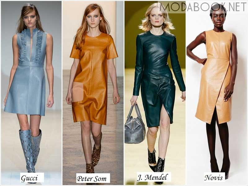 Платья на осень 2014 из кожи