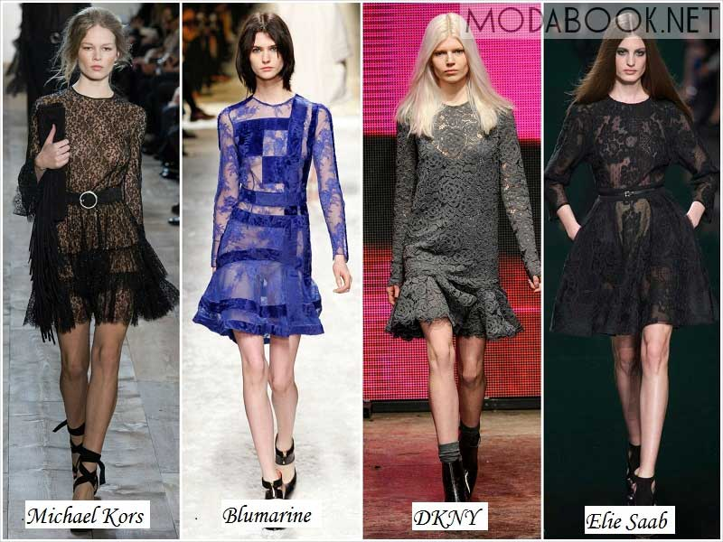 Кружевные платья 2014 2015 осень зима