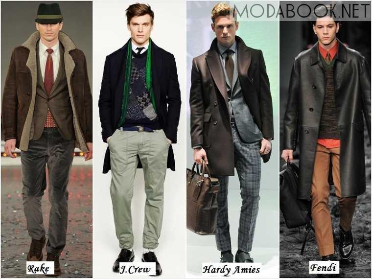 Повседневная мужская мода осенью 2014 зимой 2015 года