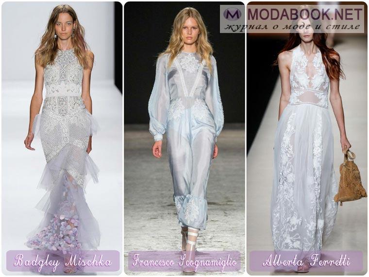 Платья из шелковых и атласных материалов