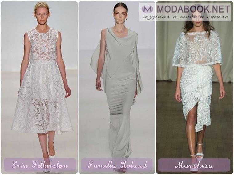 Платье из шелковых и атласных материалов