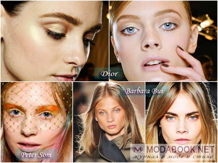 Бронзово-золотистые оттенки в макияже на Новый год 2015