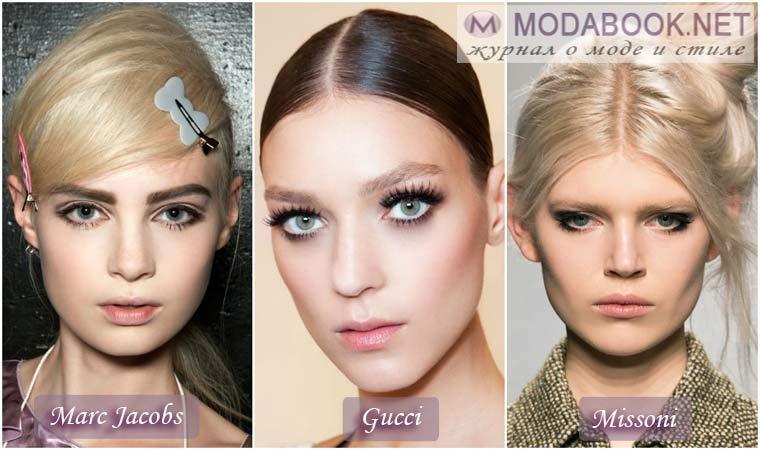 Дымчатые тени в макияже в Новый год 2018