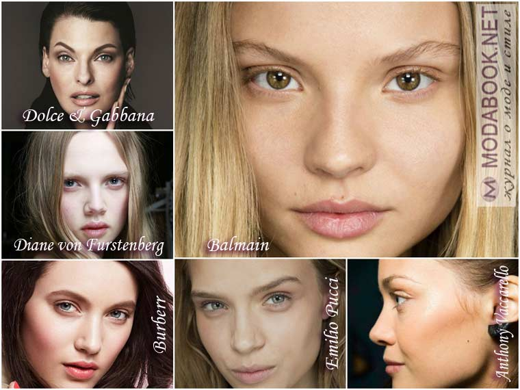 Легкая естественность в макияже Нового года 2015