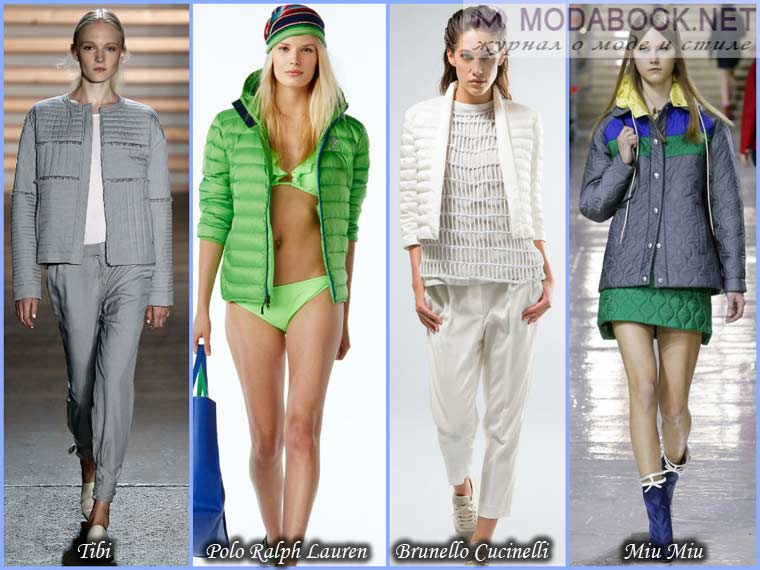 Стеганные куртки весна 2015