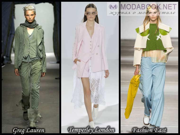 Модная многослойность в одежде весной 2015