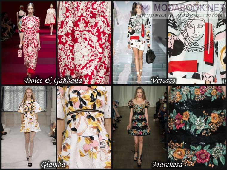 Мода весна 2015 - Рисунки на ткани