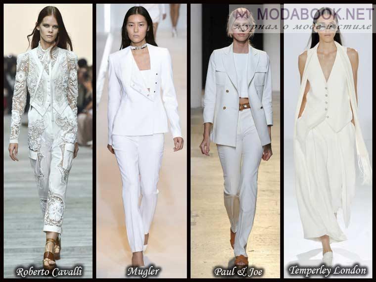 Белый костюм в модном цвете весны 2018