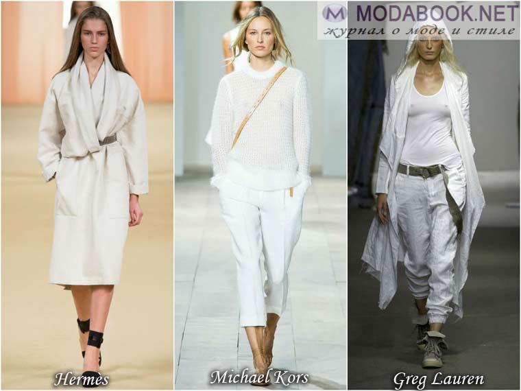 Белый цвет одежды для весны 2015