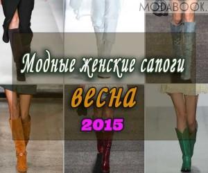 Модные сапоги: весна 2015