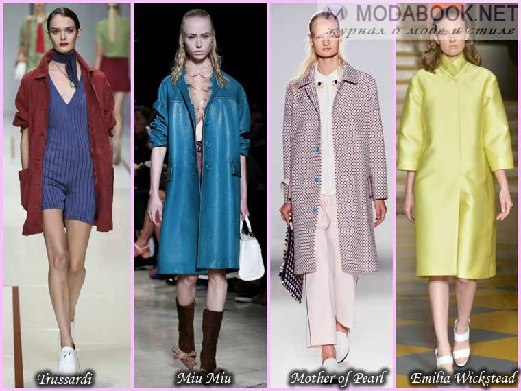 Весеннее пальто разных цветов и оттенков 2015
