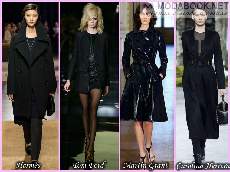Черное пальто весна 2015