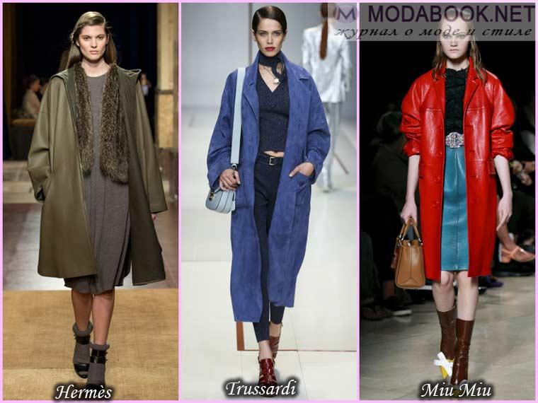 Кожаное пальто весна 2015