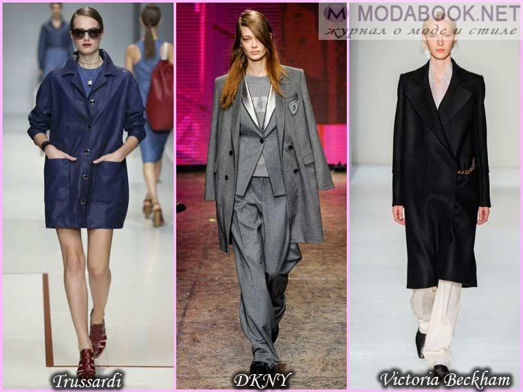 Пальто мужского стиля весны 2015