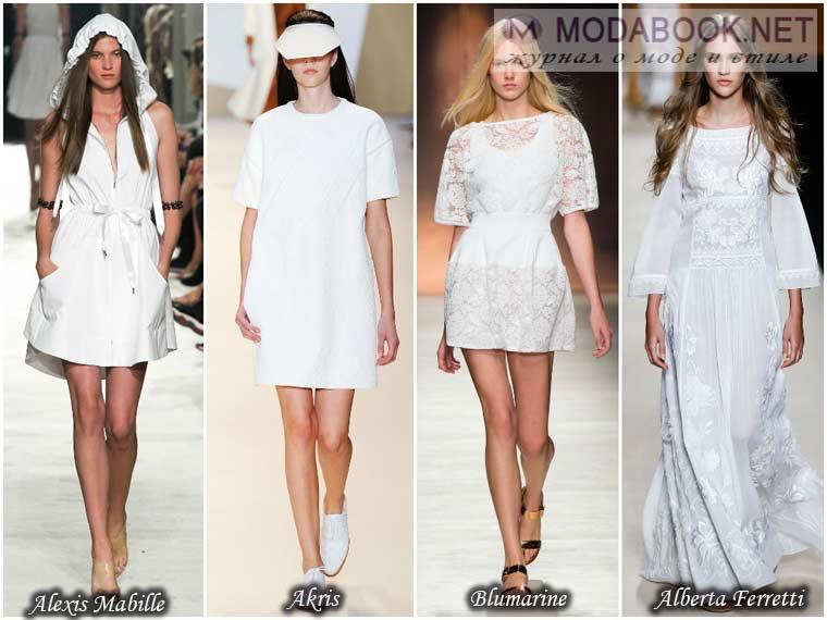 Белое платье весна 2015