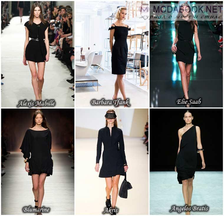 Черное платье весна 2015 год