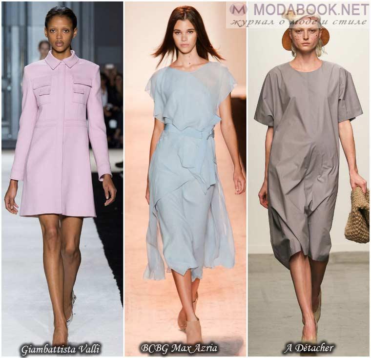Пастельные оттенки платья к весне 2015 года