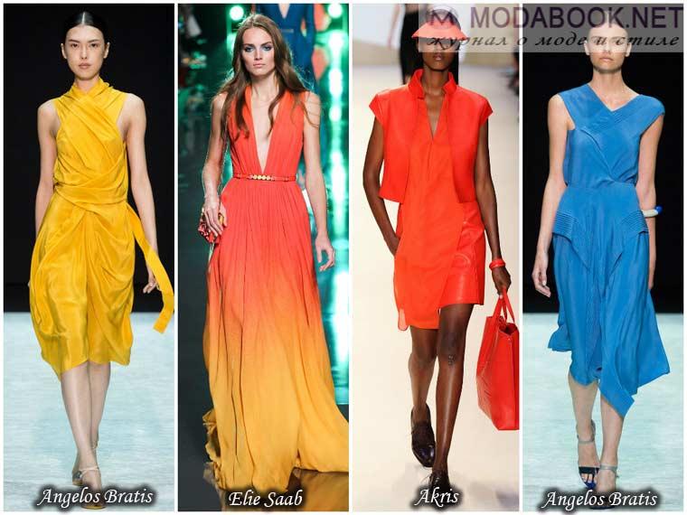 Яркость цветов платья весны 2015