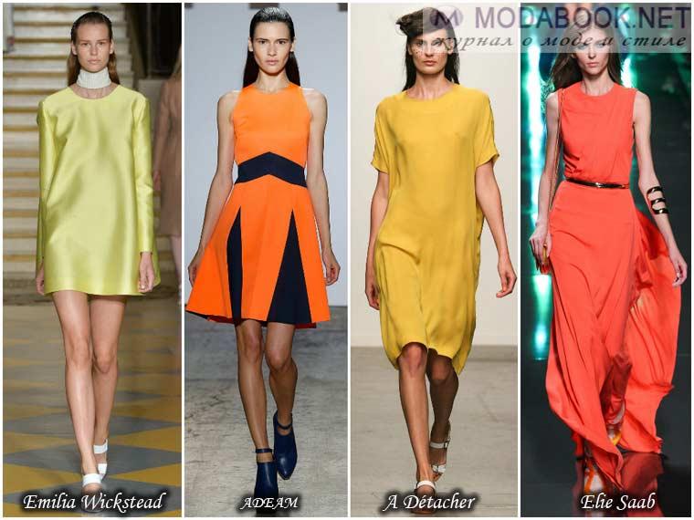 Яркие платья на весну 2015