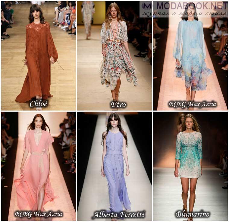 Легкие платья весна 2015 год