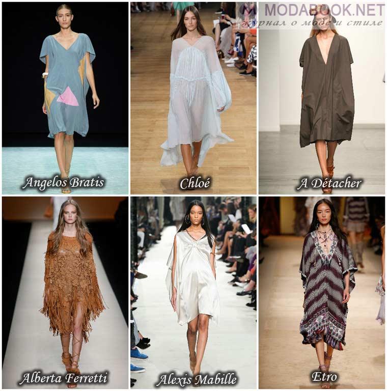Платье-балахон к весне 2015