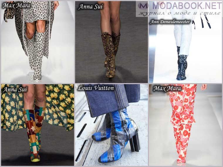 Модные принты сапог весна 2015