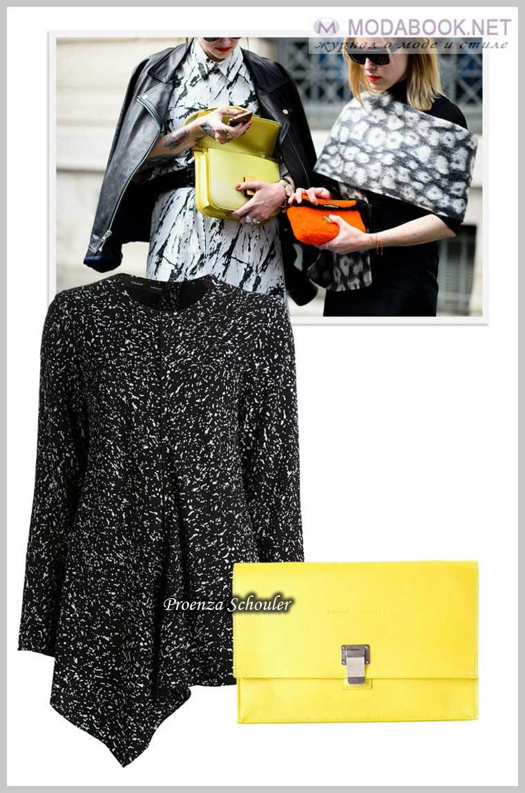 Сочно-лимонном оттенок также в моде весной 2015