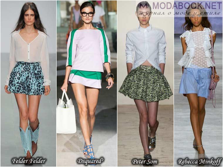 Мини юбки к весне 2015 года