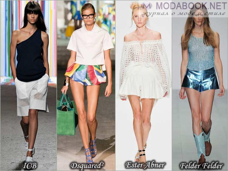 Девушки весной в юбках-шортах