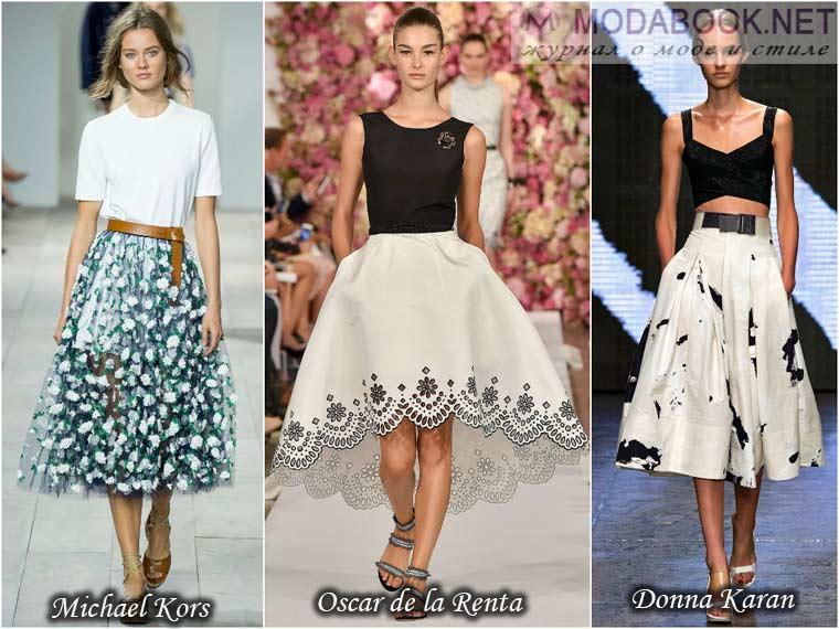 Модные юбки на осень 2015 года: на фото длинные модели в пол и